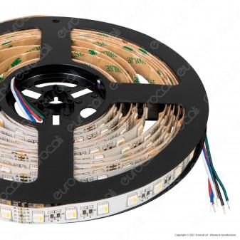 FAI Striscia LED RGB+W Multicolore Dimmerabile 19,2W 60 LED/metro 24V Bobina 5 metri - mod. 5085/300/RGBNW