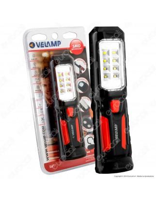 Velamp IS404 Lampada da Lavoro 1+8 LED Multifunzione