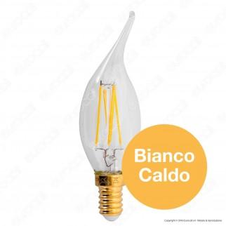 Girard Sudron Lampadina LED E14 4W Candela Fiamma Filamento Dimmerabile