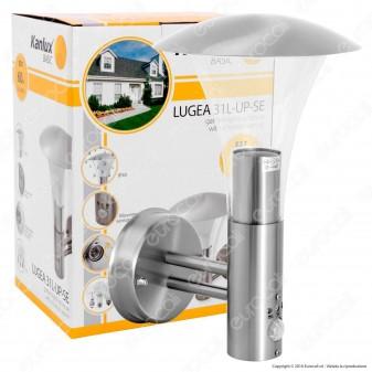 Kanlux LUGEA 31L-UP-SE Portalampada da Giardino Wall Light da Muro per Lampadine E27 con Sensore di Movimento Infrarossi