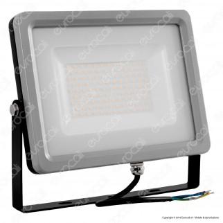 V-Tac VT-48102 Faretto LED SMD 100W Ultra Sottile da Esterno Colore Grigio e Nero - SKU 5712 / 5713 / 5714