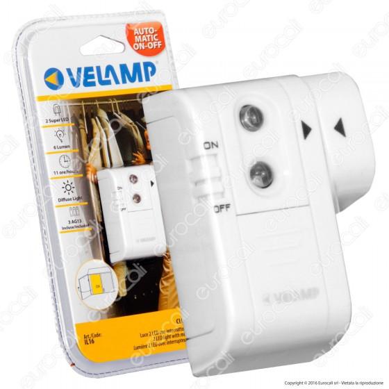 Velamp IL16 Punto Luce con Magnete 2 LED a Batteria