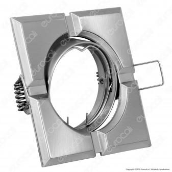 Kanlux FIRLA CT-DTL50-SC Portafaretto Orientabile Quadrato da Incasso per Lampadine GU10 e GU5.3