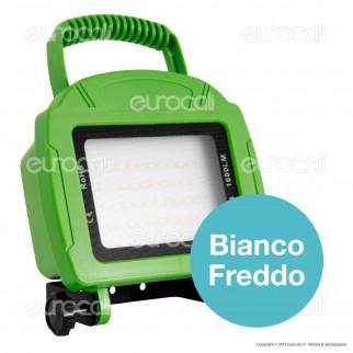 V-Tac VT-4822 Faretto LED SMD 20W Ricaricabile a Batteria Colore Verde - SKU 5692 / 5735