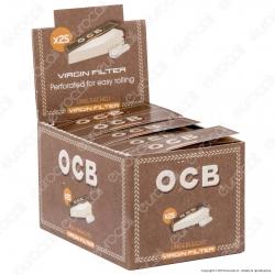 Ocb Virgin Easy Filtri In Carta Non Sbiancati - Scatola da 25 Blocchetti