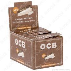 PROV-C00175002 - Ocb Virgin Easy Filtri In Carta Non Sbiancati - Scatola da 25 Blocchetti