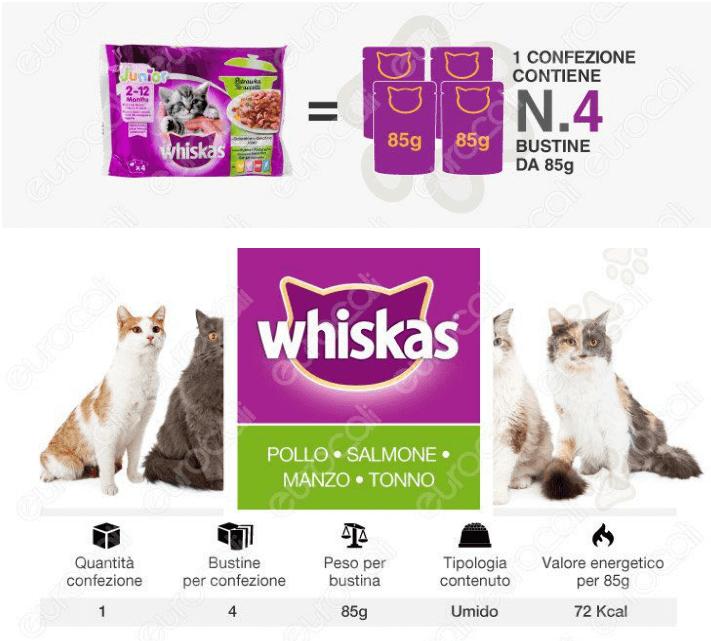 whiskas cibo gatti umido