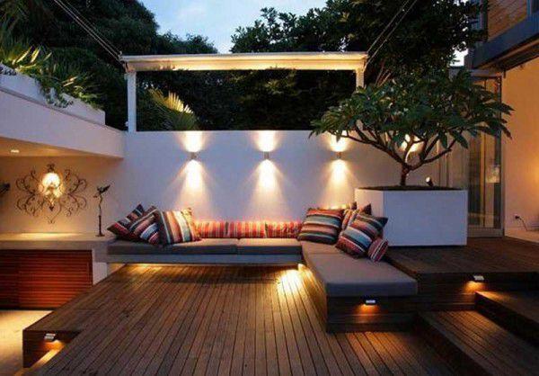 come illuminare terrazzo con LED