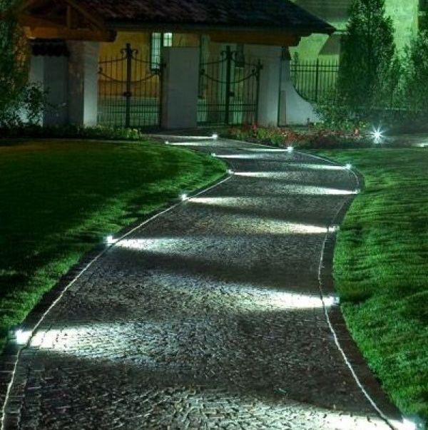 Come illuminare il giardino con i led viali portoni e for Luci da giardino