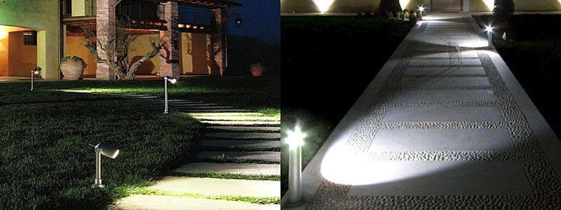 Come illuminare gli spazi esterni con l illuminazione a led for Ambienti esterni giardini