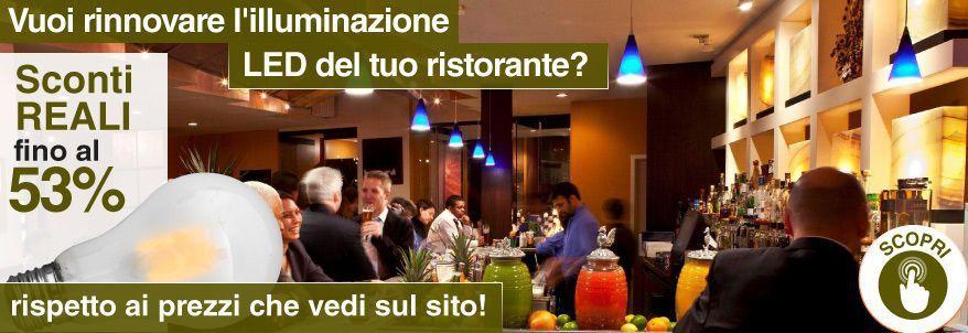 illuminazione led ideale per ristoranti